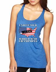 Women's Tank Top Undefeated World War Champions USA Top