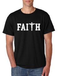 Men's T Shirt Faith Print Cross Love Christian T Shirt