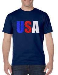 Men's T Shirt USA Glitter Flag Colors Cool 4th Of July Tee