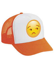 Emoji Unamused Valucap Foam Trucker Cap