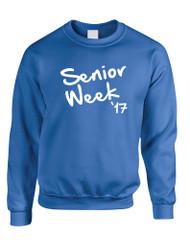 Adult Sweatshirt Senior Week 17 White Class Of 2017 Party