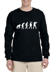 Men's Long Sleeve Hunting Evolution Funny Hunting T Shirt