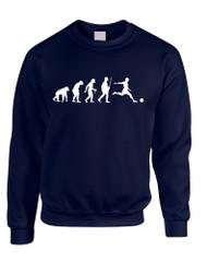 Adult Sweatshirt Soccer Evolution Funny Love Sport Top
