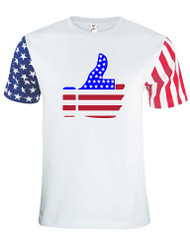 Adult Stars And Strips T Shirt Thumbs Up USA Flag 4th Of July