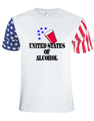 Adult Stars And Strips T Shirt USA Of Alcohol 4th Of July Shirt