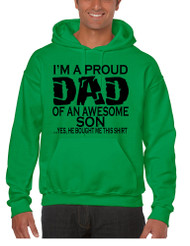 Men's Hoodie I'm A Proud Dad Of An Awesome Son Humor Top