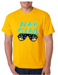 Men's T Shirt Beach Please Love Summer Vacation Beachwear