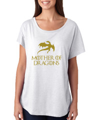 Women's Dolman Shirt Mother Of Dragons Gold Print Graphic Tee