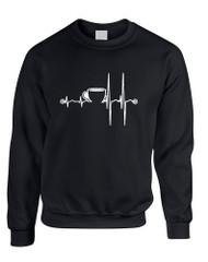 Adult Sweatshirt Coffee Heartbeat Love Coffee Addict Top