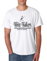Men's T Shirt White Walkers Human Resources Company