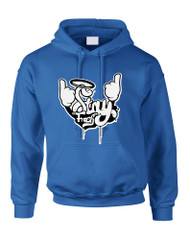 Adult Hoodie Stay Fresh Fingers Up Cute Graphic Top