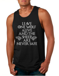 Men's Tank Top Leave One Wolf Alive Sheep Are Never Safe