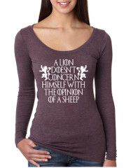 Women's Shirt Lion Doesn't Concern Himself With Opinion Of Sheep