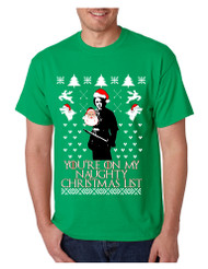 Men's T Shirt My Naughty Xmas List Arya Stark Ugly Christmas Tee