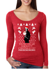 Women's Shirt My Naughty Xmas List Arya Stark Ugly Christmas
