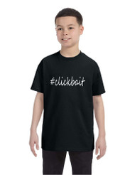Kids Youth T Shirt Clickbait Cool Hashtag Tee Trendy Top