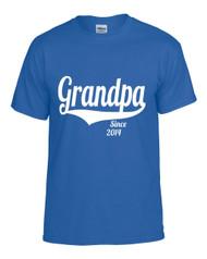 Grandpa since (ANY YEAR) Gift shirt