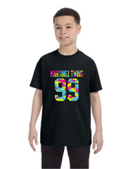 Kids Youth T Shirt Martinez Twins 99 Neon Camo Print Cool Tee