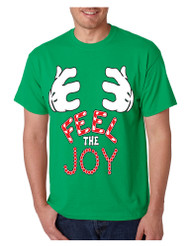 Men's T Shirt Feel The Joy Cute Christmas Tee Best Holiday Gift