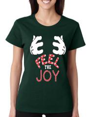 Women's T Shirt Feel The Joy Cute Christmas Shirt Holiday Gift