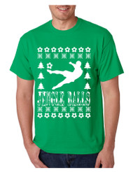 Men's T Shirt Jingle Balls Soccer Ugly Xmas Sport Lover Gift Idea