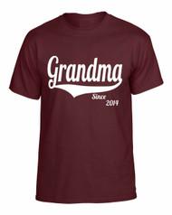 Grandma since any year gift shirt