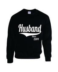 Man Sweatshirt Husband Since 2014 Gift Wedding Couple