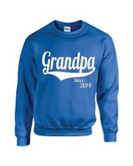 Man Sweatshirt Grandpa Since 2014