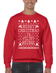 Merry Christmas Ya Filthy Animal Men Sweatshirt