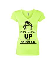 BUN GOING UP ON A SCHOOL DAY Sporty Tee Shirt