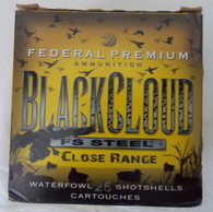 "FEDERAL BLACKCLOUD FS STEEL CLOSE RANGE 12ga 3"" 1-1/4oz #3 SHOT"