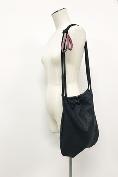 RCP **LARGE** Leather Strolling Bag (navy/black)