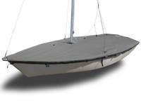 Impulse Dinghy (4m) Sailboat - Mast Up Flat Boat Cover