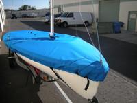 420 Sailboat Mast Up Flat Cover - Mooring Cover