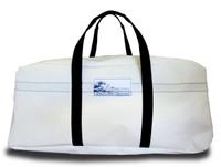 Sailcloth White Duffel Bag LARGE