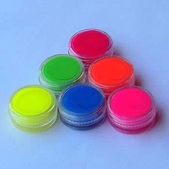 Mini jars Of Wax Based Flexible Soft Face and Body Paint