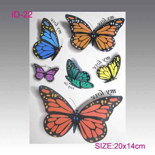 Butterflies 3D Temporary Tattoos
