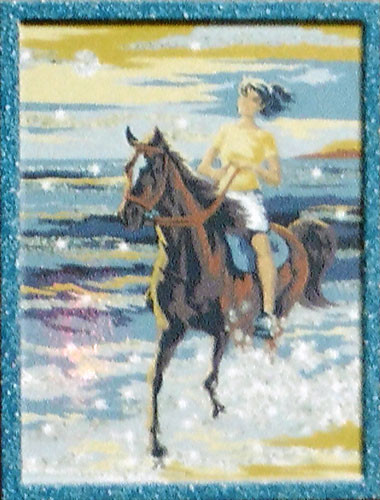 Glitter Paint By Numbers Horse Rider