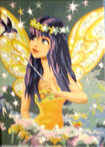 Glitter Paint By Numbers Fairy