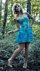 Painted Silk Dress-ROCKY BEACH