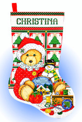 Design Works - Stitching Teddy Stocking