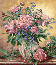 Dimensions - Peonies and Canterbury Bells
