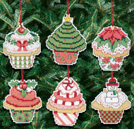 Janlynn - Christmas Cupcake Ornaments (6)