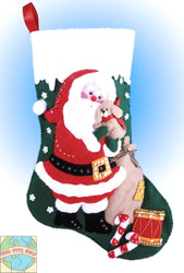 Design Works - Santa and Puppy Stocking