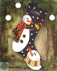 Dimensions -  Snowmen Stocking