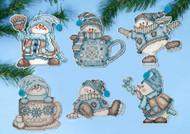 Design Works - Cocoa Snowmen Ornament Set (6)