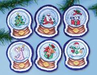 Design Works - Snowglobes Ornament Set (6)