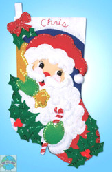 Design Works - Santa with Holly Stocking