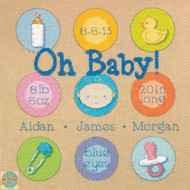Dimensions - Baby Dots Birth Record - SALE!