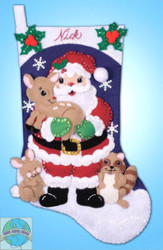 Design Works - Forest Friends Stocking